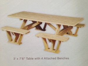 "Slideshow Image - 3'x7'6"" Walk in Table"