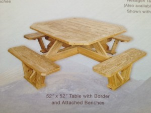 "Slideshow Image - 52"" Walk in Border Table"